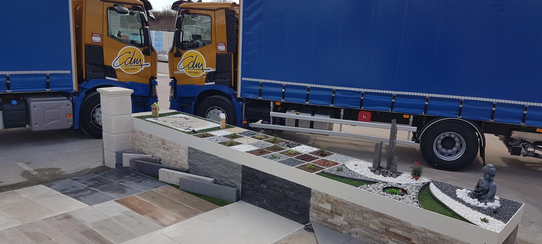 cdm troyes aube matériaux aménagement extérieur terrasse carrelage gravier décoration