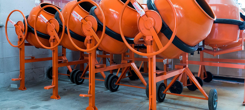 cdm troyes aube outillage bétonnière orange chantier ciment
